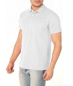 Camisa Modelo Polo 50% Algodão e 50% Poliéster Branco para Transfer Silk - 01 Unidade