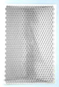 Filme de recorte SUBLIMÁVEL e Termo Colante Lantejouladas Prata Tamanho A4 (210MMX297MM) com Máscara de Recorte Reflet Power - Pacote com 10 Folhas
