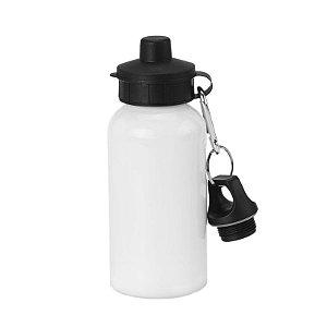 Squeeze Branco 500ml em Alumínio com tampa e mosquetão para Sublimação (B054) - 01 Unidade