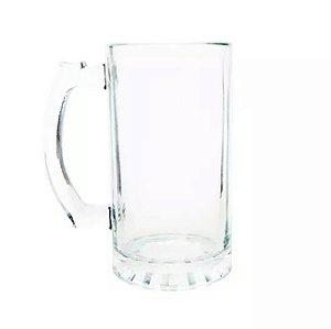 Caneca de Vidro Transparente 475ML Modelo Chopp (B164) - 24 Unidades (Caixa Fechada)