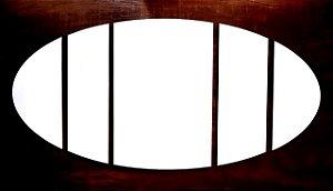 Quadro Mosaico Oval A4 Mdf 6mm Branco Retangular Resinado para Sublimação Ultra Brilho 5 Peças (PH1412) - 01 Unidade
