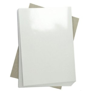 Papel Fotográfico Adesivo Glossy (resistente à água apenas p/ tintas corantes) 130g/m² - A4 Masterprint - 50 folhas