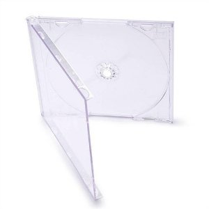 Box CD Tradicional Simples Tray Crystal (Novo Disc) - 01 Unidade