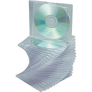 Box CD Acrílico Slim Simples Crystal Transparente (Rimo) - 01 Unidade