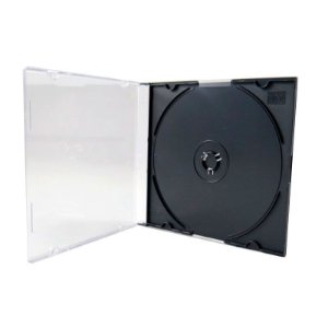 Box CD Super Slim Simples Preto (HBS) - 200 Unidades