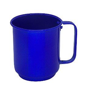 Caneca de Alumínio Linha Luxo Design Colorido para Transfer e Silk Brilhante Cor Azul 400ml - 36 Unidades (Caixa Fechada) (AL4040)