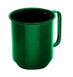 Caneca de Alumínio Linha Luxo Design Colorido para Transfer e Silk Brilhante Cor Verde 400ml - 36 Unidades (Caixa Fechada) (AL4044)
