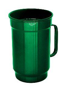 Caneca de Alumínio Linha Luxo Design Colorido para Transfer e Silk Brilhante Cor Verde 750ml - 36 Unidades (Caixa Fechada) (AL4074)