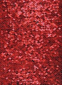 OBM - Aplique de Lantejoulas Dupla Face Retangular 21 X 28cm Vermelho e Branco Sublimáticos ShopVirtua3000® (2183)