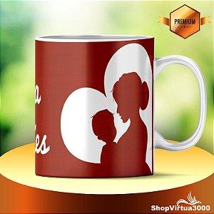 Caneca Cerâmica Classe +AAA Personalizada Dia das Mães Modelo 01 - 01 Unidade