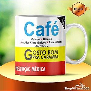 Caneca Cerâmica Classe +AAA Personalizada Café - 01 Unidade