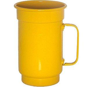 Caneca de Alumínio Linha Luxo Design Colorido para Sublimação Brilhante Cor Amarelo 750ml - 01 Unidade (AL4071)