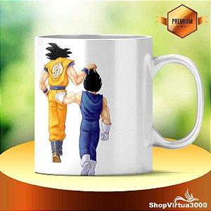 Caneca Cerâmica Classe +AAA Personalizada Goku e Vegeta (DBZ) - 01 Unidade