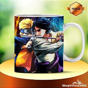 Caneca Cerâmica Classe +AAA Personalizada Naruto vs Sasuke - 01 Unidade
