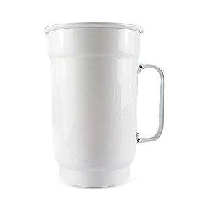 Caneca de Alumínio Branca para Transfer e Silk Brilhante 750ml - 36 Unidades (Caixa Fechada) (AL4005)