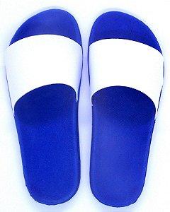 Chinelo Slide Borracha Modelo Tipo Rider Sublimático Azul Adulto 36/37 Embalado a Vácuo não Suja ou Amarela (SP030) - 01 Unidade