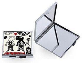 Espelho Estojo de Bolso Compacto Quadrado 6 x 6,8cm em Metal Para Sublimação (2390) - 01 Unidade