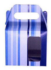 Caixinha de Caneca Listra Azul  Janela Fundo Automático (AL3024) - 01 Unidade