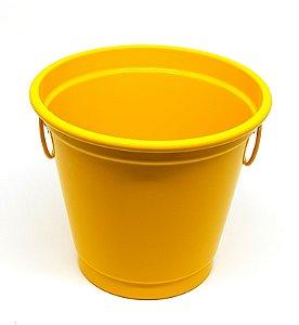 Balde para Gelo Em Alumínio Linha Luxo Design Cor Amarelo Brilhante para Transfer e Silk Capacidade para Até 2,7 Litros - 01 Unidade