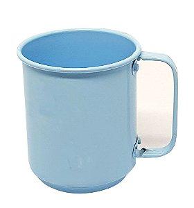 Caneca de Alumínio Linha Luxo Design Colorido para Transfer e Silk Brilhante Cor Azul Bebê 400ml - 01 Unidade (AL4049)