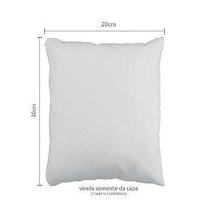 Capa de Almofada para Sublimação Tamanho 20x30 Material Oxford Branco Modelo Quadrado Com Zíper Invisível - 01 Unidade
