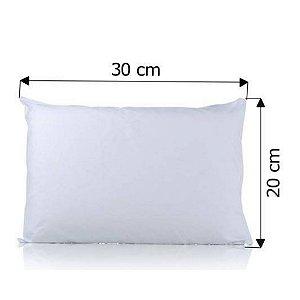 Capa de Almofada para Sublimação 20x30cm Material Oxford Branco Com Zíper Invisível (1.M002) - 05 Unidades