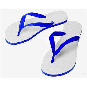 Chinelo Borracha Sublimático com Trad Azul Royal Adulto 39/40 Embalado a Vácuo não Suja ou Amarela (JD6060) - 01 Unidade