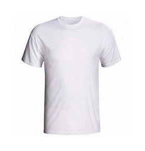 Camiseta/Camisa Tamanho M Gola Careca Manga Curta Baby Look em Malha PP Branca Sublimática - 01 Unidade