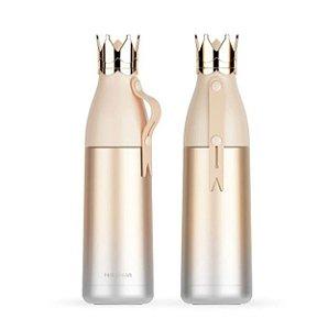 Garrafa Térmica Linha Luxo Coroa em Inox Sublimável Dourado 350ml (ShopVirtua3000®) (2465) - 01 Unidade