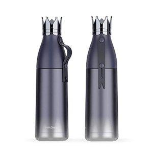 Garrafa Térmica Linha Luxo Coroa em Inox Azul 350ml (ShopVirtua3000®) (2463) - 01 Unidade