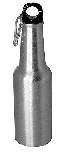 """Garrafa de Aluminio Estilo """"Long Neck"""" - Prata - 500 ML (2597) - 01 Unidade (PROMO BOAS FESTAS)"""