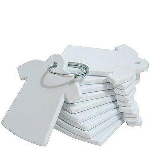 Chaveiro Polímero em formato de Camiseta - Pacote com 10 Unidades