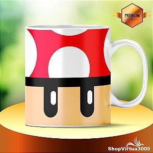 Caneca Cerâmica Classe +AAA Personalizada Cogumelo Mario Bros - 01 Unidade