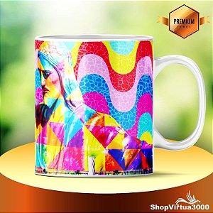 Caneca Cerâmica Classe +aaa Personalizada Grafite Eduardo Kobra - 01 Unidade