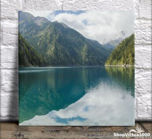 Azulejo Ultra Brilho 15x15cm / 20x20cm Personalizado Lago Longo Sichuan (AL2002 - AL2004) - 01 Unidade