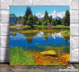 Azulejo Ultra Brilho 15x15cm / 20x20cm Personalizado Natureza Colorida (AL2002 - AL2004) - 01 Unidade