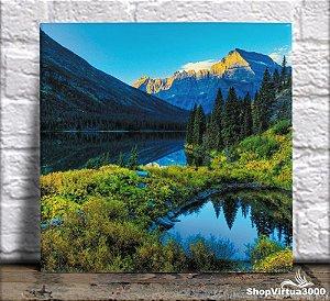 Azulejo Ultra Brilho 15x15cm / 20x20cm Personalizado Cenário de Montanhas (AL2002 - AL2004) - 01 Unidade