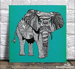 Azulejo Ultra Brilho 15x15cm / 20x20cm Personalizado Elefante da Namibia (AL2002 - AL2004) - 01 Unidade