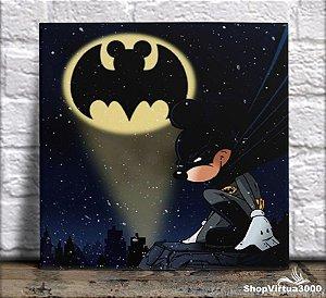 Azulejo Ultra Brilho 15x15cm / 20x20cm Personalizado Mickey Batman (AL2002 - AL2004) - 01 Unidade