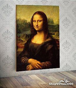 Placa em MDF Vertical 6mm Ultra Brilho Personalizado Mona Lisa del Giocondo - Leonardo da Vinci - 01 Unidade