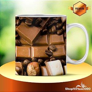 Caneca Cerâmica Classe +AAA Personalizada Chocolate, Café, Nozes - 01 Unidade