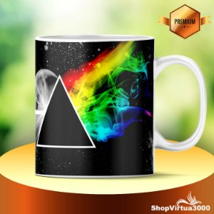 caneca Cerâmica Classe +AAA Personalizada Pink Floyd - 01 Unidade