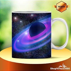 Caneca Cerâmica Classe +AAA Personalizada Planeta Roxo Galáxia - 01 Unidade