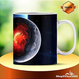 Caneca Cerâmica Classe +AAA Personalizada Explosão Planetária 01 Modelo - 01 Unidade