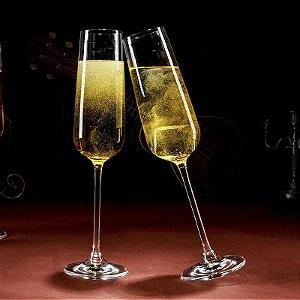 Taça Vidro Cristal P/ Champagne Cor Cristal 230ml (Linha Elegance Sublimação) (2680) - 01 Unidade