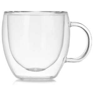 Xícara Vidro Cristal Parede Dupla P/ Café 75ml (Linha Elegance Sublimação) (2708) - 01 Unidade