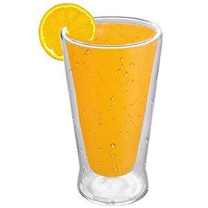 Copo Vidro Cristal Parede Dupla P/ Agua/suco 240ml (Linha Elegance Sublimação) (2714) - 01 Unidade