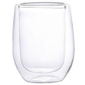 Copo Vidro Cristal Parede Dupla P/ Whisky 240ml (Linha Elegance Sublimação) (2715) - 01 Unidade