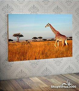 Placa em MDF Horizontal 6mm Ultra Brilho Personalizado Girafa Modelo 01 - 01 Unidade