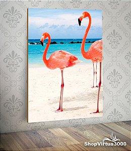 Placa em MDF Vertical 6mm Ultra Brilho Personalizado Flamingo Modelo 01 - 01 Unidade